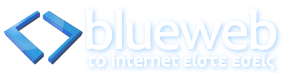 Blue Web hovered logo